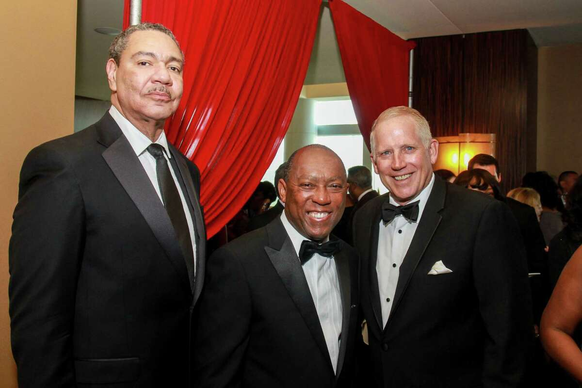Calvin C. Guidry, from left, Mayor Sylvester Turner and John Minge at the Houston Area Urban League's 50th anniversary gala. Mayor Turner is the honorary chair, and Guidry and Minge are the gala's co-chairs.