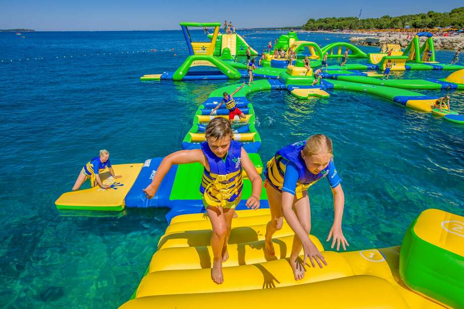 Lake Travis near Austin is getting an all new floating water park complete with an obstacle course. Photo: Commercial Recreation Specialists