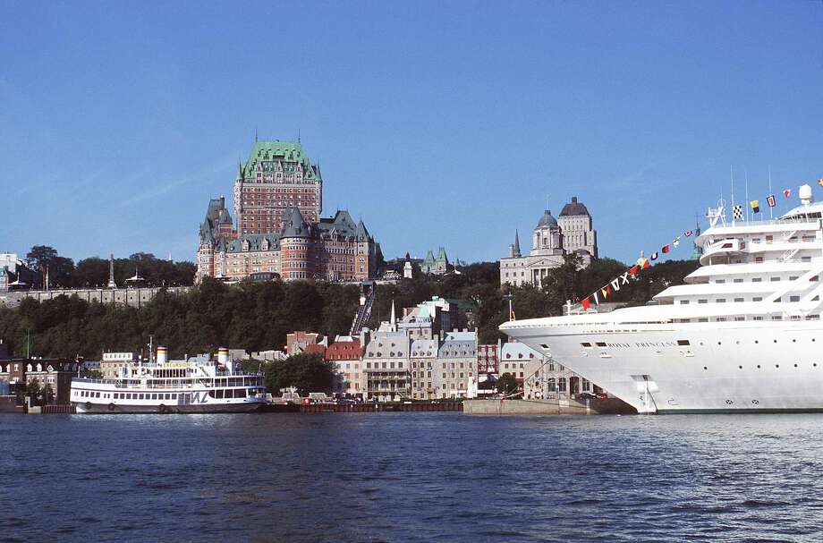 The tall, Victorian-style building in the background is Quebec City's historic Chateau Frontenac hotel as viewed from a section of the St. Lawrence River. It's where President Roosevelt and British Prime Minister Churchill secretly met in 1943 during World War II, and where we luxuriated on our second visit. Photo: Quebec City Tourism Bureau