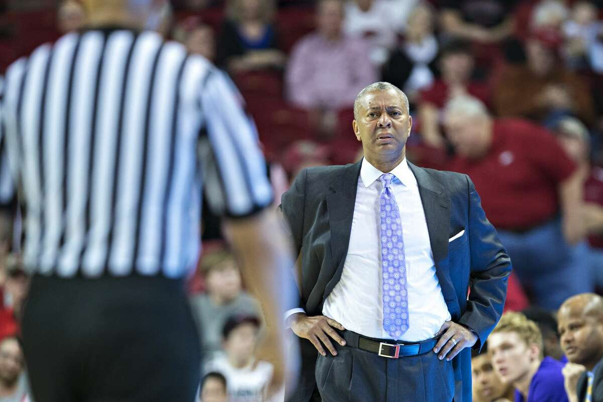Head Coach Johnny Jones of the TSU Tigers watches the officials during a game. (Photo by Wesley Hitt/Getty Images)