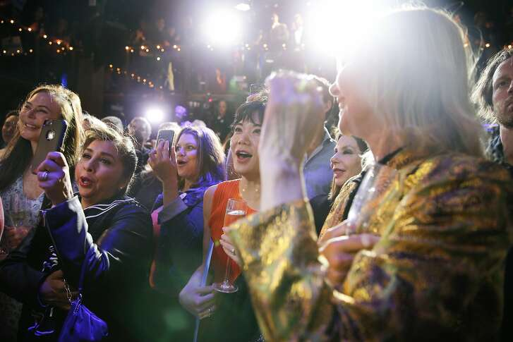 Gavin Newsom supporters cheer during his election night party at Verso, Tuesday, June 5, 2018, in San Francisco, Calif. Newsom is running for Governor of California.
