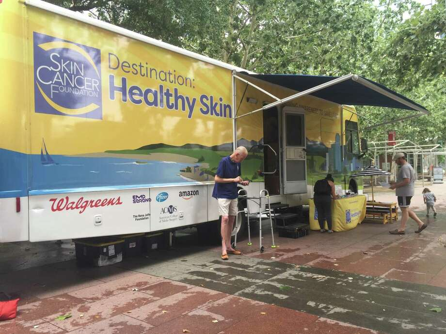 The Skin Cancer Foundation's Mobile RV program, Destination:Healthy Skin, visited Houston for three days to give people information about taking care of their skin, and providing free skin cancer screenings. Photo: Rebecca Hazen