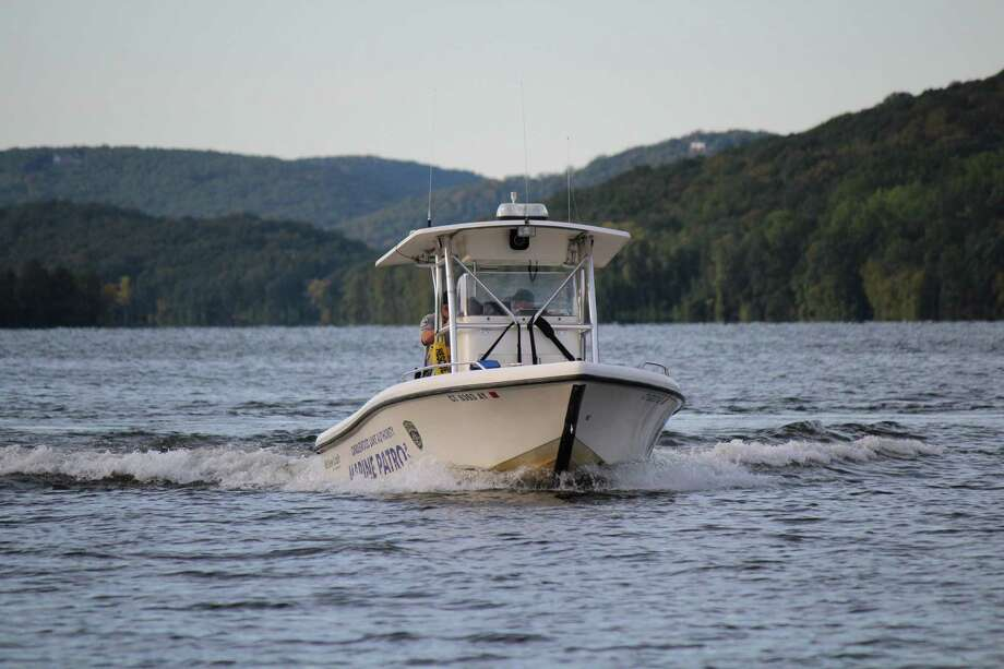File photo of a marine patrol boat on Candlewood Lake. Photo: Contributed PhotoCLA / Contributed PhotoCLA / News-Times Contributed