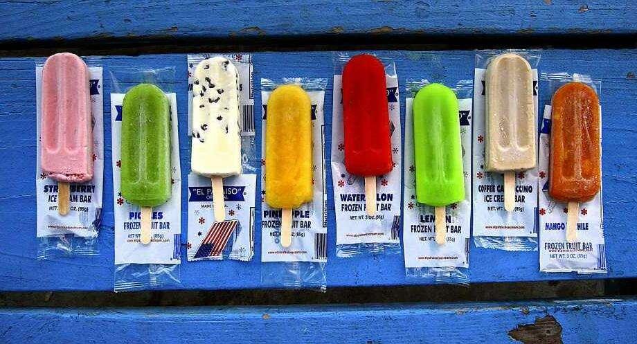 Paletas from El Paraiso Ice Cream. Photo: Mike Sutter /San Antonio Express-News