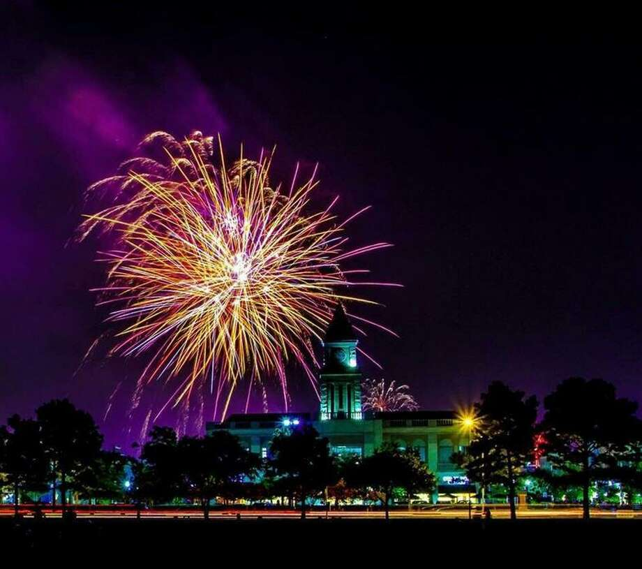 Fireworks will conclude the Fourth of July celebration at LaCenterra at Cinco Ranch about 9:15 p.m. Fireworks in the city of Katy are scheduled to begin about 9 p.m. at Katy Mills Mall/Typhoon Texas. Photo: LaCenterra At Cinco Ranch