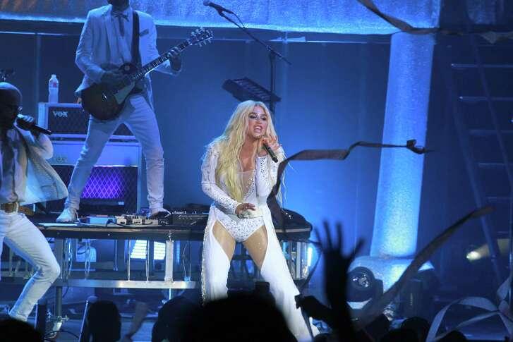 The Kesha concert at the Woodlands Pavilion.