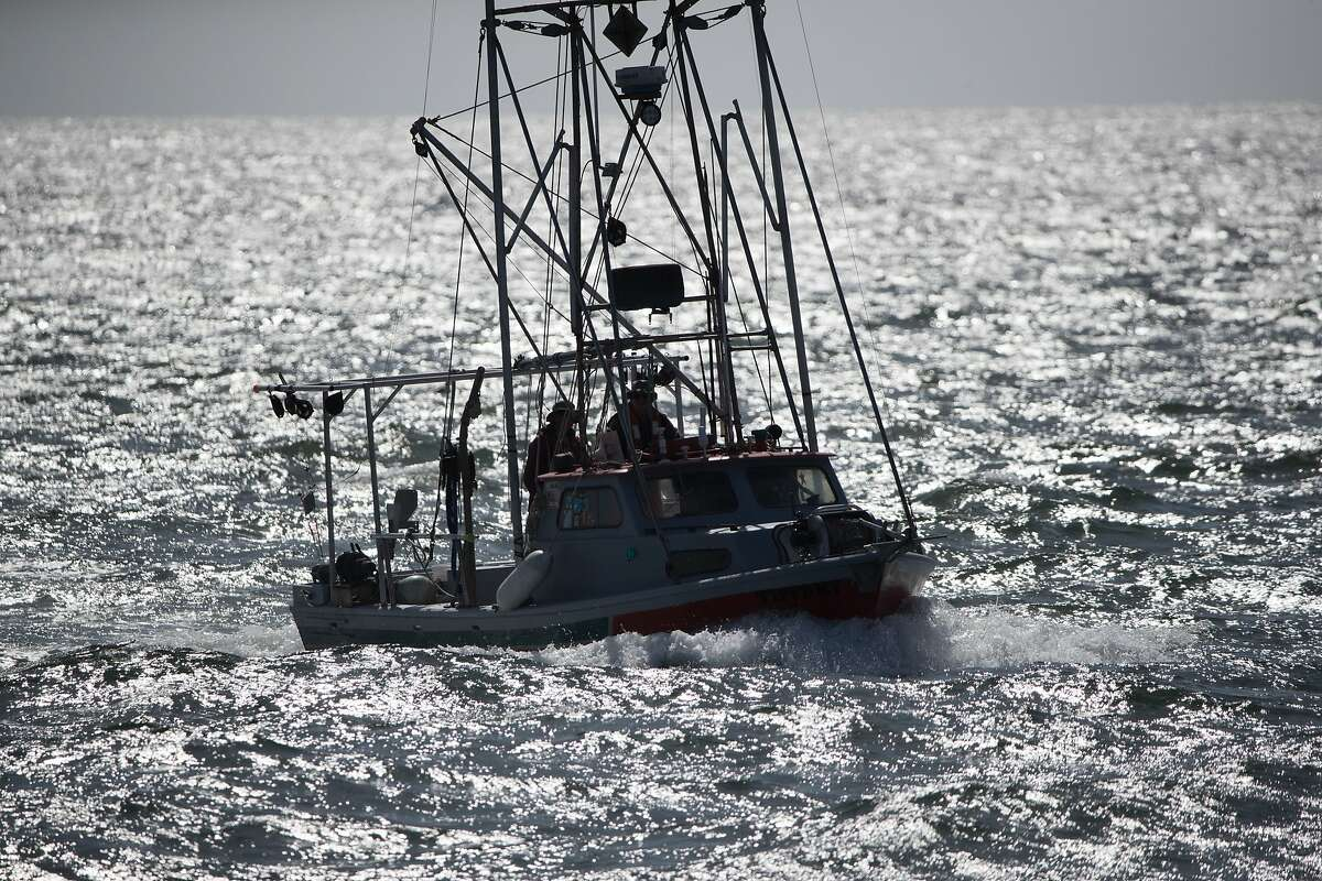 Fishermen Merrill Merlin and Tom Eckert head in after fishing for 8-hours and catching 5 California King salmon on Thursday, May 2, 2018 in Moss Landing, CA.