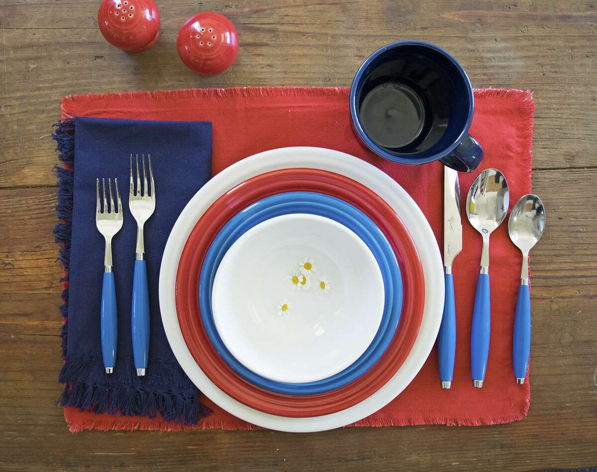 Fiesta dishes: The highly collectible Fiesta dinnerware, which dates to 1936, is still relevant on tables in 2018. Pick some red, white and blue from its mix-and-match colors for a patriotic message. $27.99 for a three-piece place setting (other prices vary); Dillard's, Bed Bath and Beyond, Kohl's and Macy's stores
