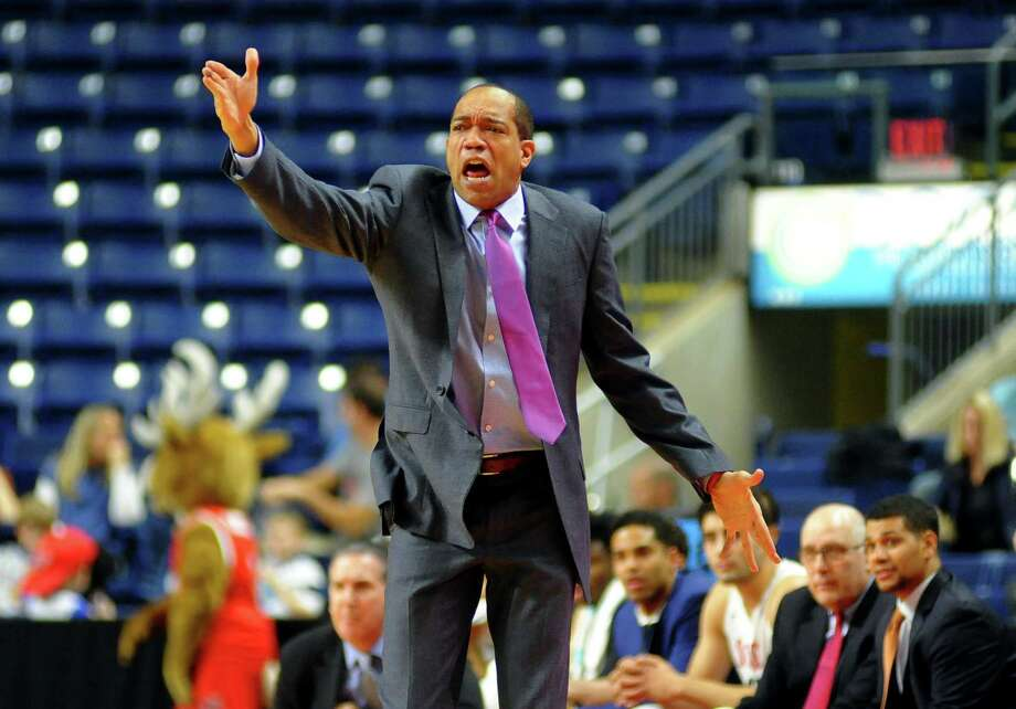 Fairfield men's basketball coach Sydney Johnson has been given a contract extension by the University through the 2020-21 season. Photo: Christian Abraham / Hearst Connecticut Media / Connecticut Post