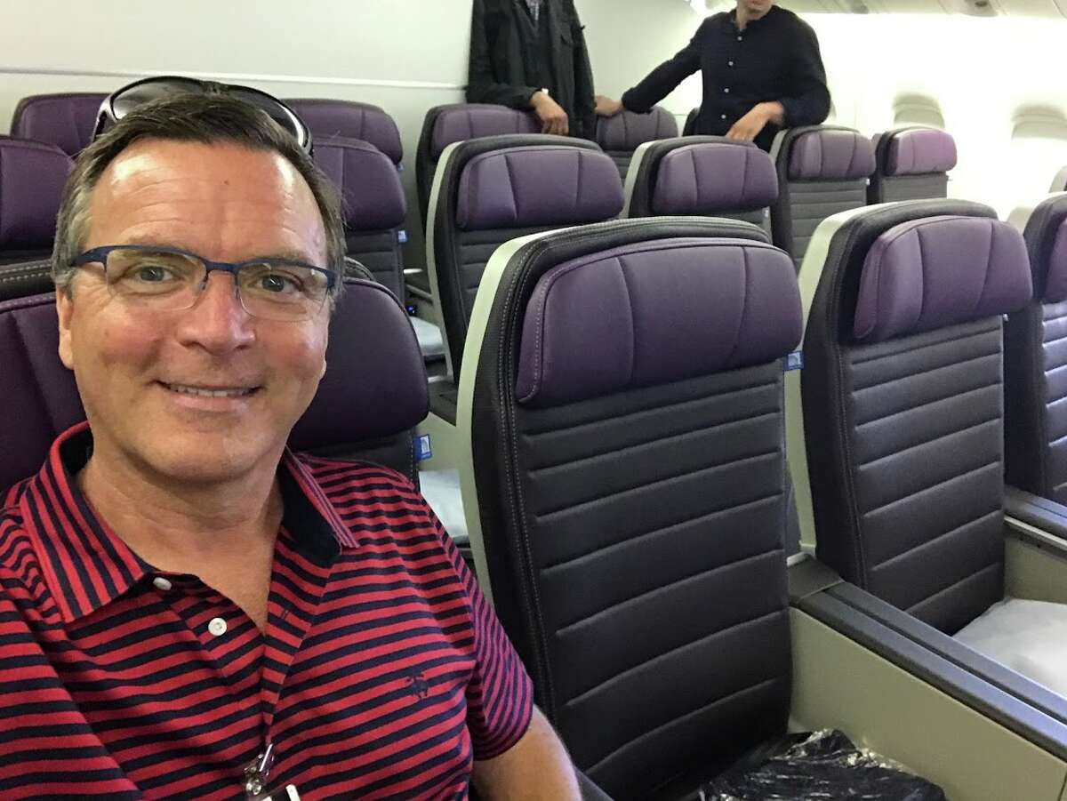 First look at United Airlines' new Premium Plus seat on a Boeing 777-200ER