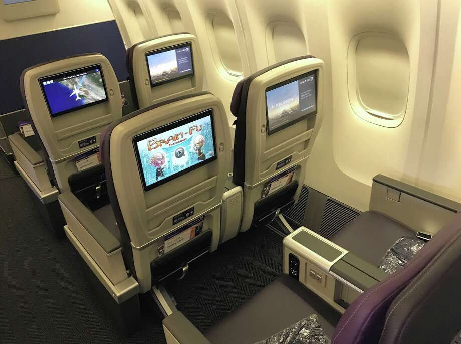 United Airlines' new Premium Plus seat on a Boeing 777-200ER Photo: Chris McGinnis