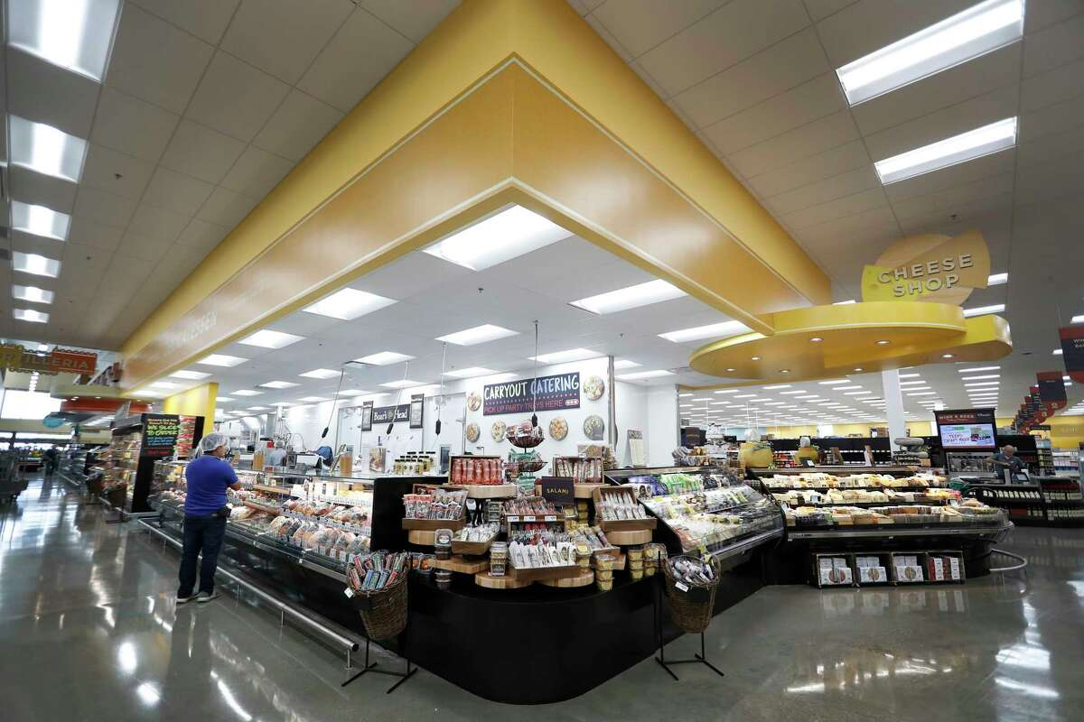 The cheese and deli sections inside the new H-E-B store, Monday, June 25, 2018, in Bellaire. It's the first two-story H-E-B to open in the Houston area.