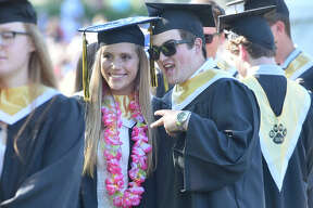 Madison, Connecticut - Monday, June 25, 2018: The Daniel Hand High School  Commencement Exercises Monday evening on the  First Congregational Church lawn in Madison.