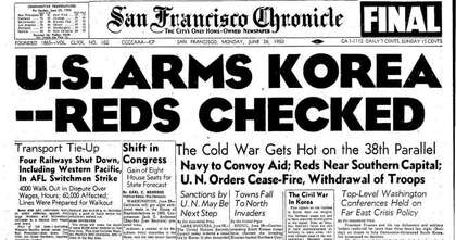 Chronicle Covers: From the Cold War to the Korean War