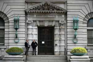 SAN FRANCISCO, CA - JUNE 12:  Security guards stand in front of the Ninth U.S. Circuit Court of Appeals  on June 12, 2017 in San Francisco, California.
