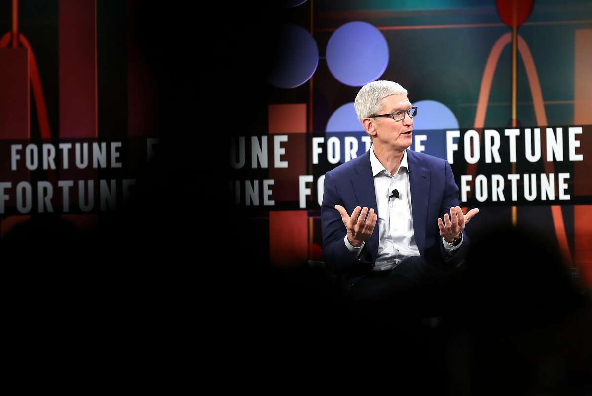 Apple CEO Tim Cook takes part in The Fortune CEO Initiative2018 Annual Meeting at St. Regis in San Francisco, Calif. on Monday, June 25, 2018.