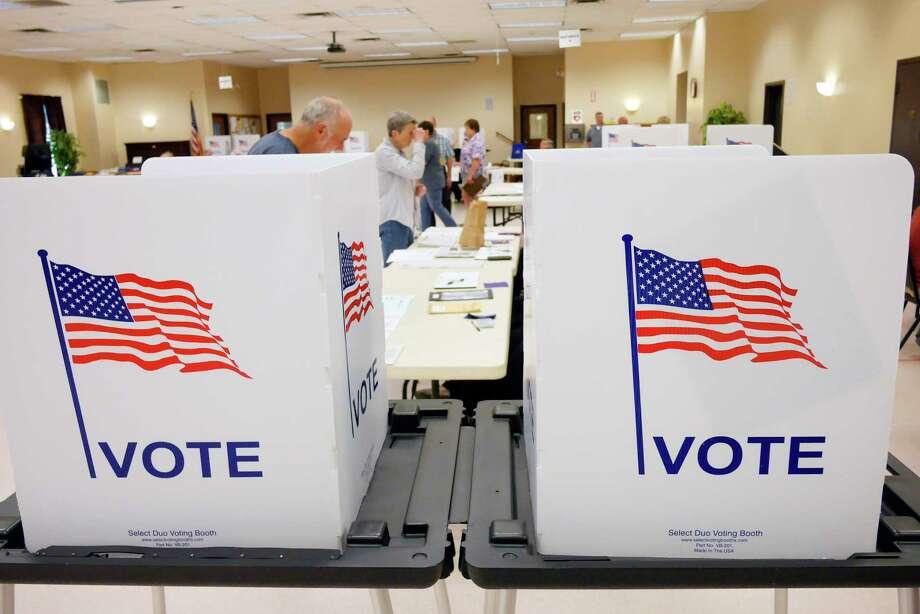 Voters cast their ballots at the Milton Community Center on Tuesday, Sept. 12, 2017, in Milton, N.Y.     (Paul Buckowski / Times Union) Photo: PAUL BUCKOWSKI / 40041513A