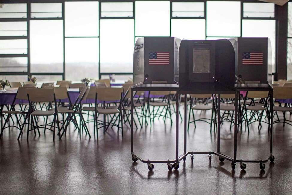 A carve out in the state's criminal trespass laws allows sex offenders to enter a school for the purpose of voting, which can include school district votes and government elections where the school is the polling site. (Nathaniel Brooks/The New York Times) ORG XMIT: XNYT24