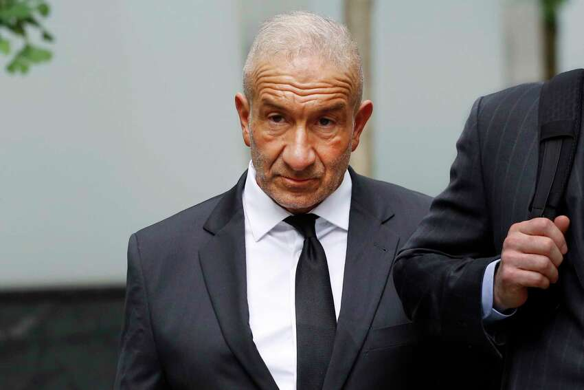 Alain Kaloyeros, a former president of the State University of New York's Polytechnic Institute, arrives at federal court for his corruption trial, Tuesday, June 19, 2018, in New York. (AP Photo/Mark Lennihan)