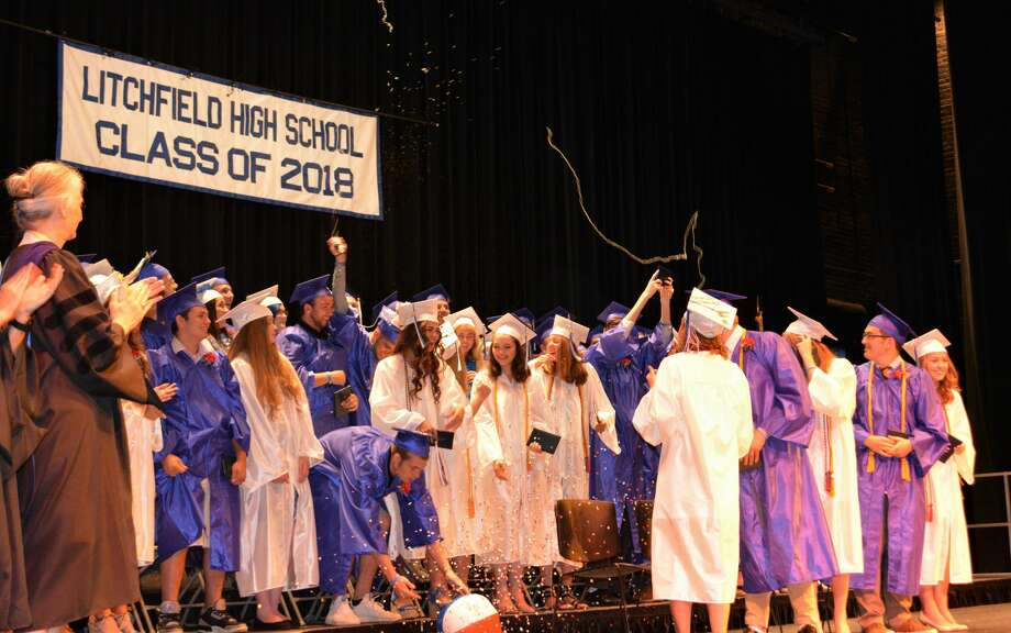 The graduation ceremony of the Litchfield High School Class of 2018 at the Warner  Theatre on June 25 2018 Photo: Leslie Hutchison / Hearst Connecticut Media