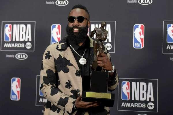Rockets  James Harden wins MVP award - HoustonChronicle.com cf7ab48d0