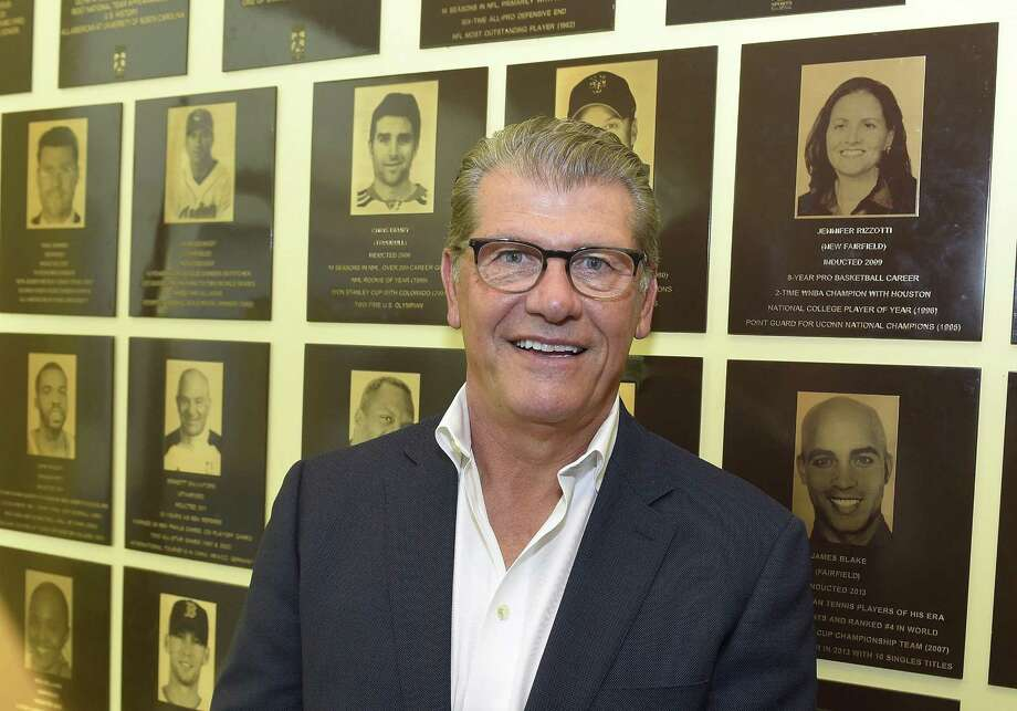 UConn women's basketball coach Geno Auriemma will be signing autographs on July 20 at Mohegan Sun. Photo: Matthew Brown / Hearst Connecticut Media / Stamford Advocate