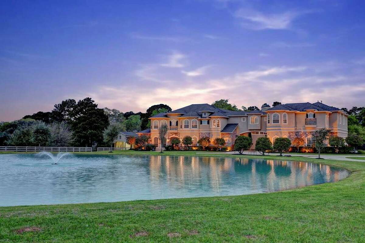 24702 Mesquite River Trail, Hockley$2.8 million13 acres, 8,081 built square feet7 bedrooms, 9 bathrooms$346.49 per square footSee the listing at HAR.com