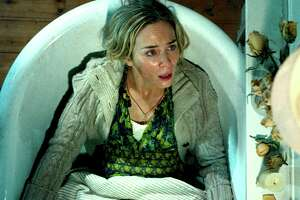 """Emily Blunt could use a midwife but she gets a monster in a scene from """"A Quiet Place."""""""