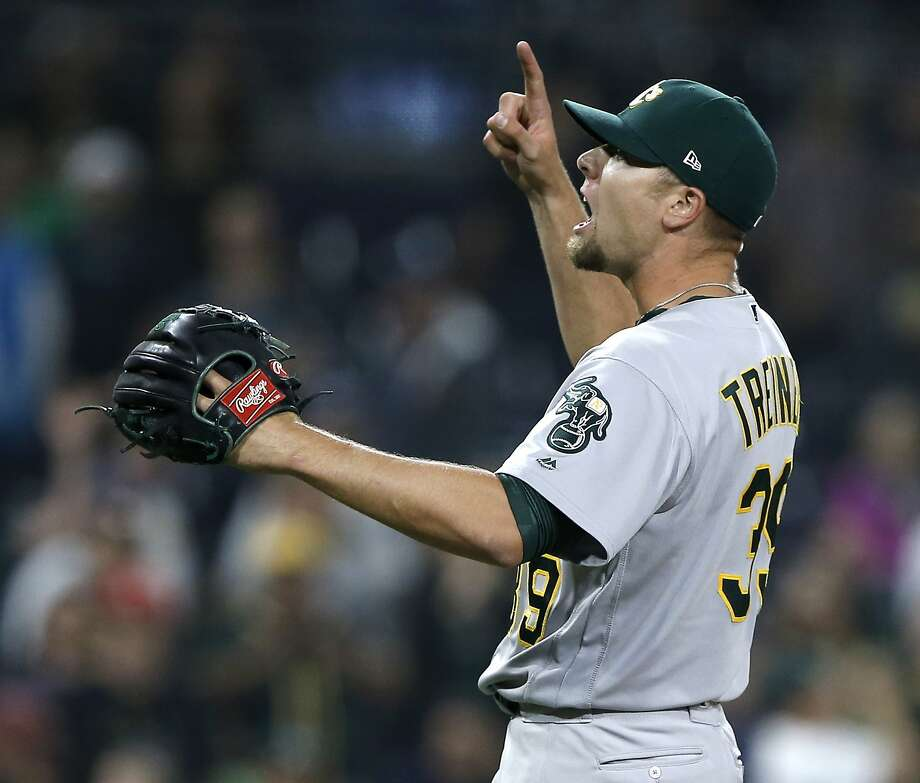 A's reliever Blake Treinen in an All-Star for the first time in his career. He has an ERA of 0.81 and has 22 saves. Photo: Alex Gallardo / Associated Press