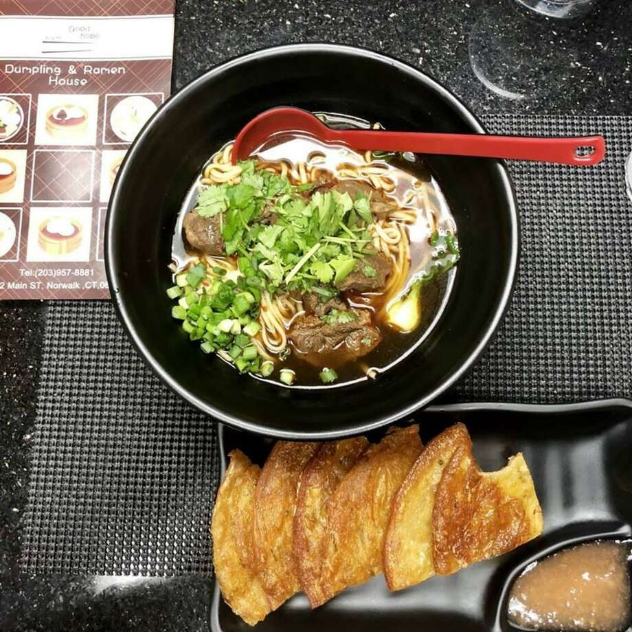 Good Hope in Norwalk is mostly dumplings and ramen, but its meu also includes spring rolls, wonton soup, dandan noodles and, after 5:30 p.m., a few Szechuan dinner specials. Photo: Contributed Photo