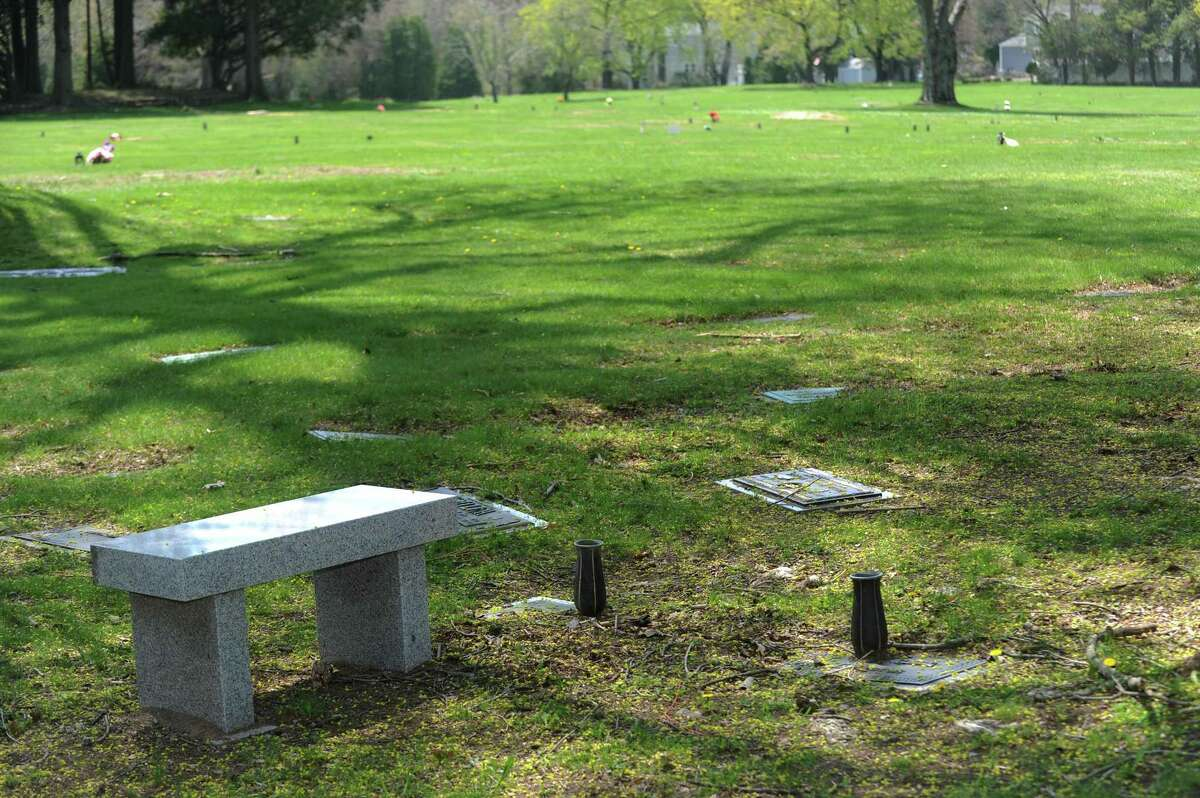Fairfield Memorial Park Cemetery on Oaklawn Ave. in Stamford, Conn. on Thursday, May 3, 2018.