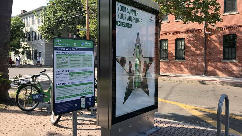 The bike share station at the corner of State and Mechanic streets in New Haven as seen on Tuesday, June 26, 2018. Photo: Submitted Photo