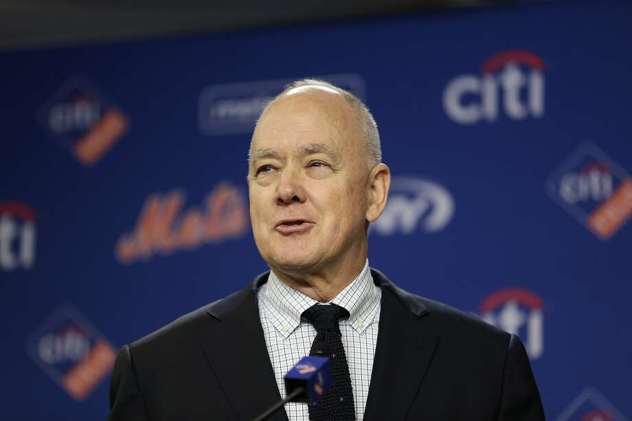 FILE - In this Wednesday, Jan. 17, 2018 file photo, New York Mets' general manager Sandy Alderson speaks at a news conference at Citi Field in New York. Mets general manager Sandy Alderson is taking a leave of absence because his cancer has returned. The 70-year-old made the announcement before the game against Pittsburgh, Tuesday, June 26, 2018. (AP Photo/Seth Wenig, File) Photo: Seth Wenig / Associated Press