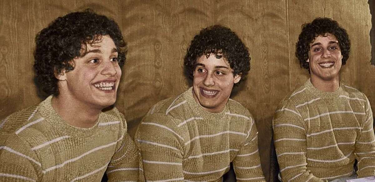 Eddy Galland, David Kellman and Bobby Shafran, identical triplets who were separated at birth and reunited at age 19.