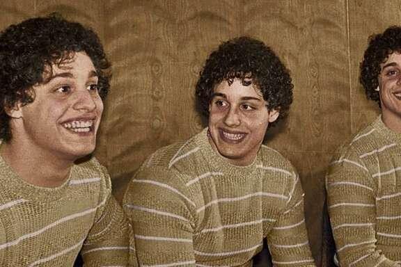 Eddy Galland, David Kellman and Bobby Shafran, identical triplets who were separated at birth and reunited at age 19.