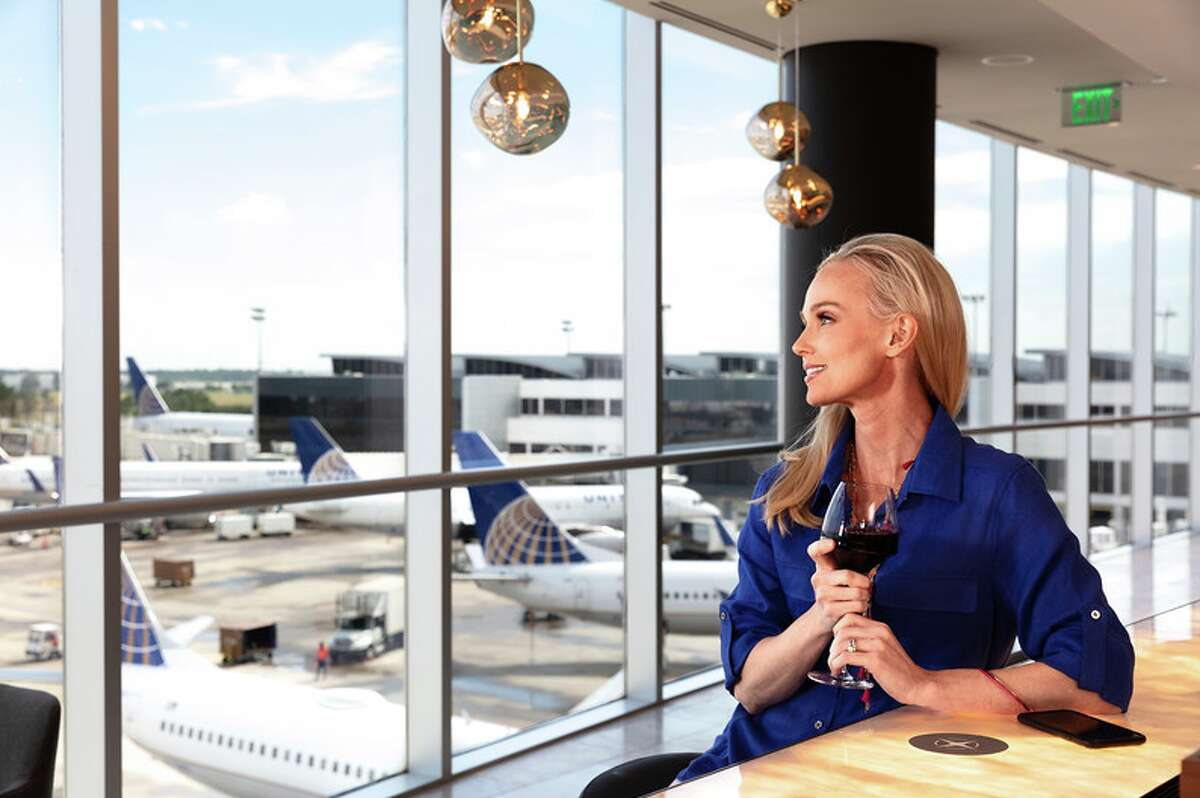 Views of the airfield from United's new Polaris lounge at Bush Intercontinental Airport in Houston
