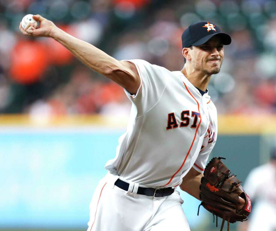 Houston Astros starting pitcher Charlie Morton pitches against the Toronto Blue Jays during the first inning of a major league baseball game at Minute Maid Park on Tuesday, June 26, 2018, in Houston. Photo: Brett Coomer, Houston Chronicle / © 2018 Houston Chronicle