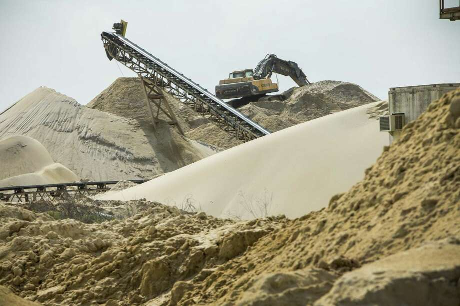 A Superior Silica Sands employee was killed in a railroad mishap in South Bexar County over the weekend. Shown in this 2017 photo is the company's sand mine in Kosse, part of a booming industry required for the oil and gas production technique of hydraulic fracturing.  ( Brett Coomer / Houston Chronicle ) Photo: Brett Coomer /Houston Chronicle / © 2017 Houston Chronicle