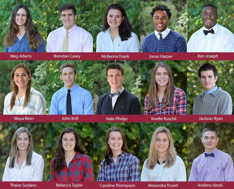 Pictured above are the St. Luke's graduates committed to continue their athletic careers at the next level. Photo: Contributed Photo / New Canaan News contributed