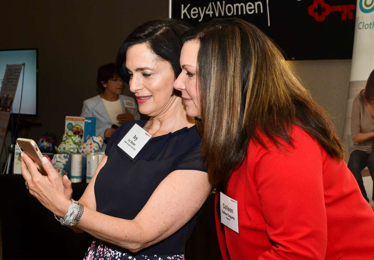 Attendees at the May 18 Key4Women forum featuring Leah Busque, founder of TaskRabbit. (Photos by Colleen Ingerto)
