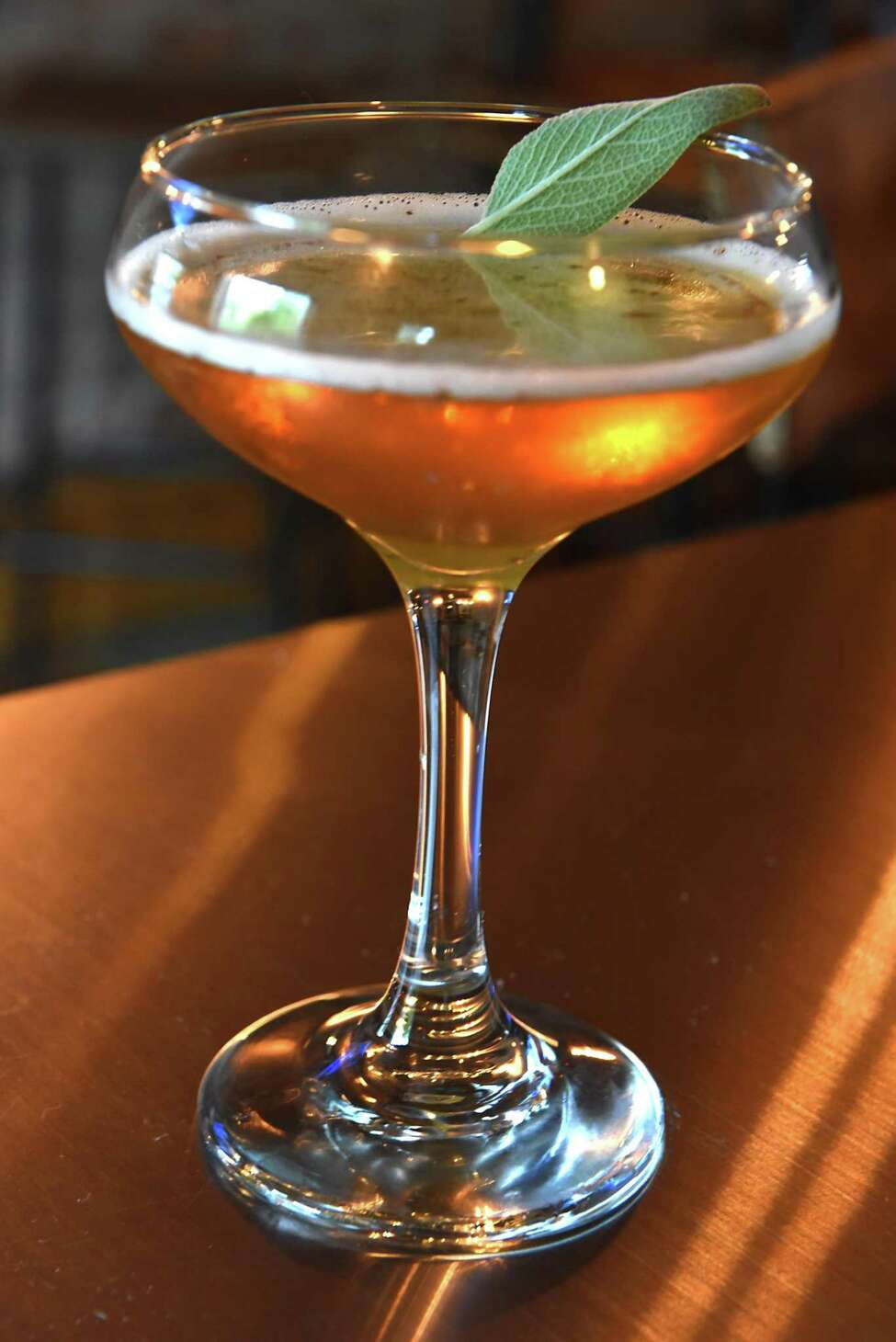 Sweet and sage cocktail at Albany Distilling Co. at 75 Livingston Ave. on Tuesday, May 22, 2018 in Albany, N.Y. (Lori Van Buren/Times Union)