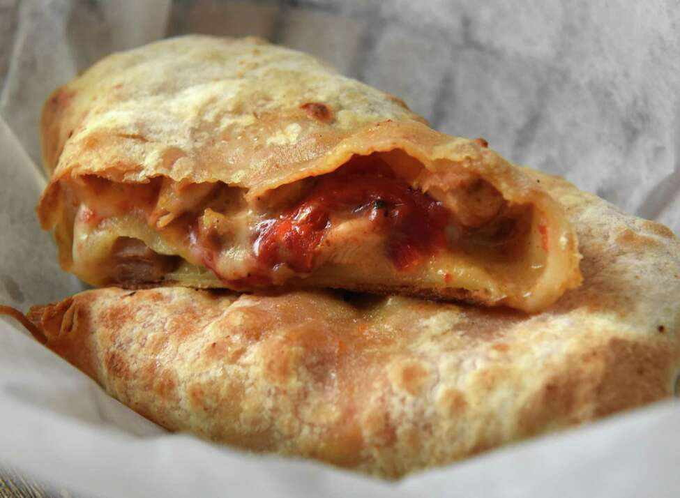 The 2nd line hot pocket by Forged in Hudson Falls at Albany Distilling Co. at 75 Livingston Ave. on Tuesday, May 22, 2018 in Albany, N.Y. (Lori Van Buren/Times Union)