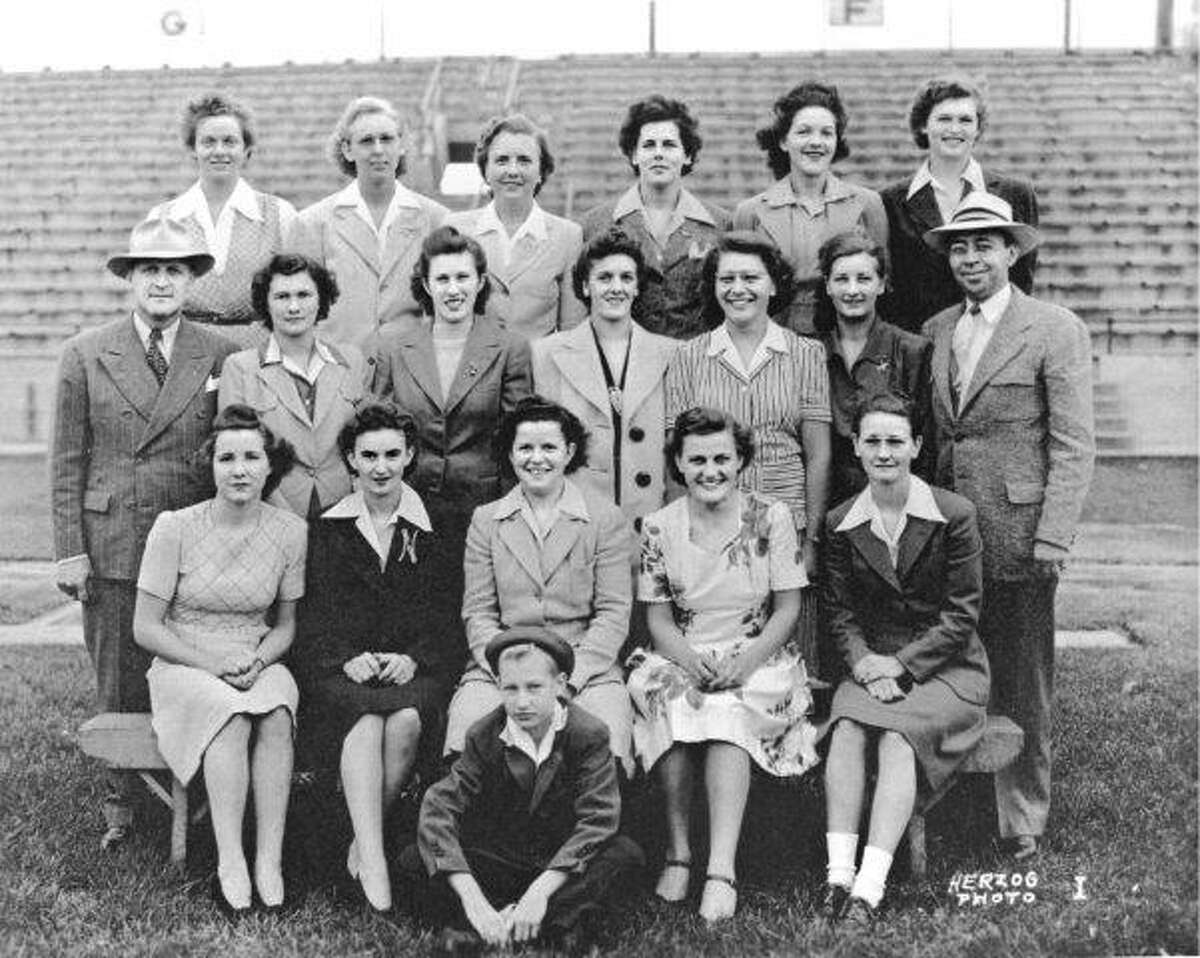 The Rockford Peaches of the All-American Girls league. (Provided, Baseball Hall of Fame)