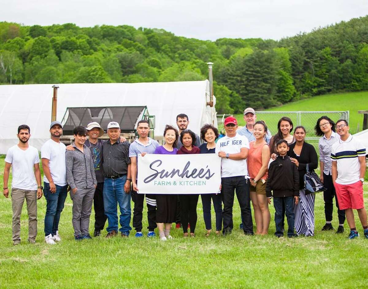 Posted on July 3, 2017, the family (and more) that runs Sunhee's Farm and Kitchen. (Via Facebook)
