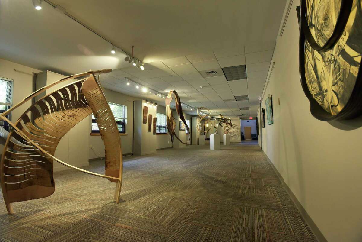 A view of the gallery inside the Paul Nigra Center for Creative Arts at Transitions on Tuesday, May 29, 2018, in Gloversville, N.Y. (Paul Buckowski/Times Union)