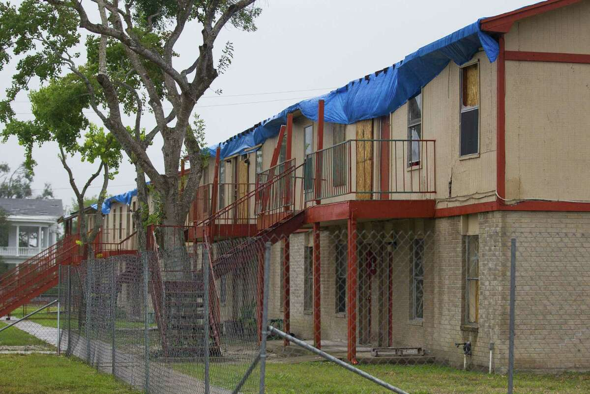 A public housing complex in Refugio sits vacant, Monday, Dec. 18, 2017, after succumbing to damage when Hurricane Harvey hit Refugio earlier this year. ( Mark Mulligan / Houston Chronicle )