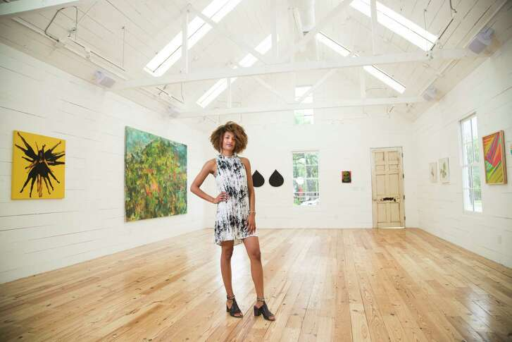 India Lovejoy, founder of Black Buddha stands in the new home of Alt_Space called The Union, located in the Sixth Ward. Thursday, May 24, 2018, in Houston. ( Marie D. De Jesus / Houston Chronicle )