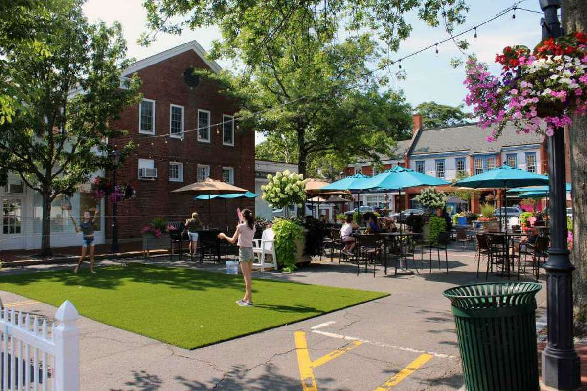 The Pop Up Park in downtown New Canaan on July 31, 2017.