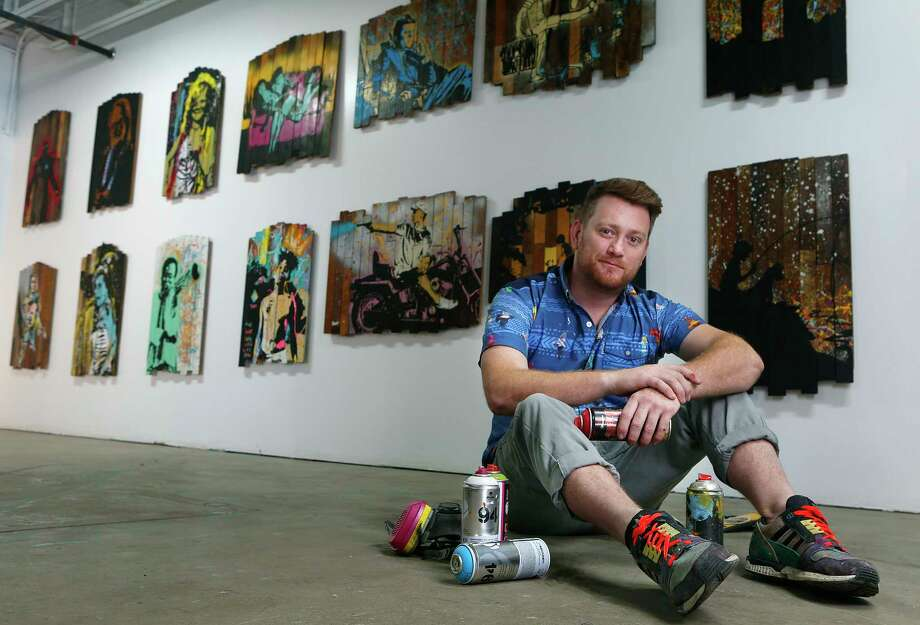 Artist Jon Garner paints a variety of themes, but one of the most in demand right now are his range of Star Wars themed paintings in his studio, Tuesday, Dec. 15, 2015, in Houston. ( Mark Mulligan / Houston Chronicle ) Photo: Mark Mulligan, Staff / © 2015 Houston Chronicle