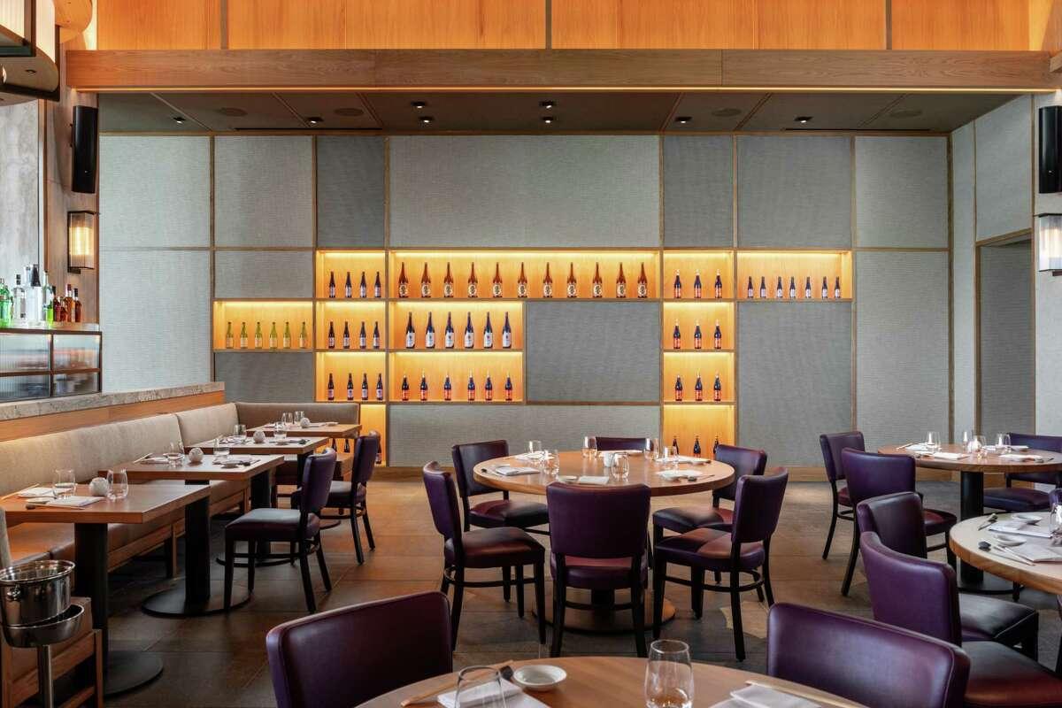 Detail main dining room at Nobu Houston at the Galleria.